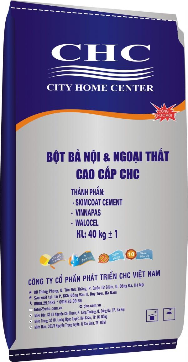BỘT BẢ NỘI & NGOẠI THẤT CAO CẤP CHC 40KG